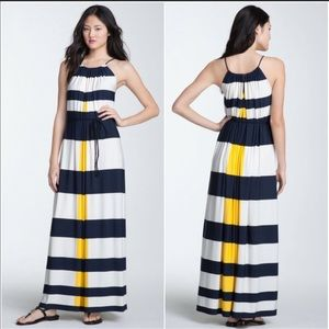 Nautical Rugby Stripe Maxi Dress Maggy London